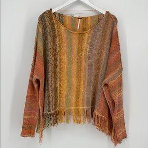 🟣Free People Confetti Combo Fringe Sweater